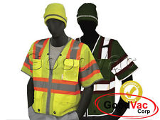 Majestic 75-3325 High Visibility Class 3 D-Ring Vest ANSI ISEA 107-2010 Class 3