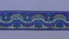 "3 Yd Jacquard Trim 1.20"" wide Woven Border Sew Embroidered Ribbon Lace T779"