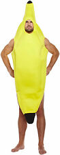 ADULTS BANANA COSTUME FRUIT FANCY DRESS COMPLETE OUTFIT STAG NIGHT PARTY COMEDY