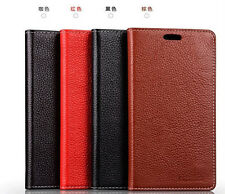 Luxury Genuine Leather Wallet Flip Sucker Cover Stand Case For NOKIA Lumia 1320