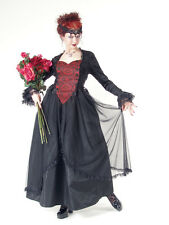 Eternal Love Plus Size Black and Red Gothic Belle Dame Dress Gown 1X 2X 3X 4X 5X