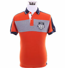 Tommy Hilfiger Men Short Sleeve Logo Custom Fit Pique Rugby Polo Shirt - $0 Ship