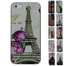 Multi-Style Chic Hard Snap Back Protector Plastic Case for iPhone 5/5S Cheap