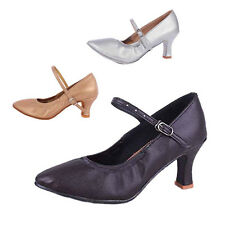 Brand New Women's Modern Ballroom Latin Tango Dance Shoes heeled Salsa 3 Colors
