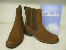 Clarks Ladies Ankle Boots Orinoco Club Brown Leather E Fit Wide Width
