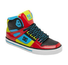 DC SPARTAN HIGH WC - Mens Skate Shoes (NEW w/ FREE SHIPPING) Hi Top : RED & BLUE