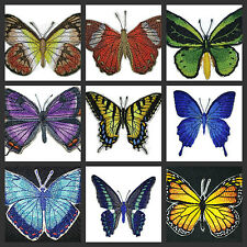 Beautiful Butterflies Embroidered Iron On Patches