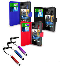 WALLET LEATHER FLIP CASE COVER FOR HTC DESIRE 300 + STYLUS