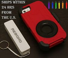 Rebono Rugged Shockproof Defender Case For Iphone 5/5s With Rotating Kickstand