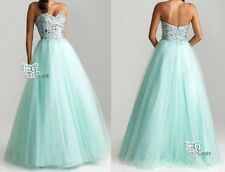 Stock Long Formal Bridesmaid Dresses Party Evening Prom Dresses Ball Gown 6-16