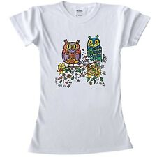 T shirts to colour in for Teenage Girls all sizes girls craft pair of owls