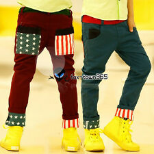 Korean Autumn/Spring Boy Baby Child kids Hips tube Star Flag Pants Trousers 3-8Y