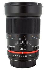 Rokinon 35mm F1.4 Aspherical Wide Angle Lens - New!