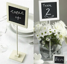 5 WEDDING PARTY SHABBY CHIC TABLE NUMBER HOLDERS SIGNS CHALKBOARDS WHITE / IVORY