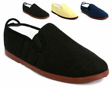 MENS CANVAS SLIP ON PLIMS PLIMSOLE PLIMSOLLS TRAINERS SHOES PUMPS UK 7-12 V97