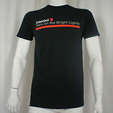 Licensed INTERPOL Band Turn On The Bright Lights Logo Slim Fit T-Shirt S-XL NEW