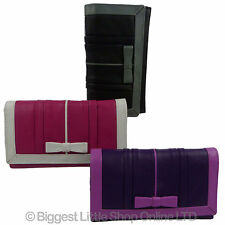 NEW Ladies Large Flap Over LEATHER PURSE WALLET by Mala; Candy Collection Gift