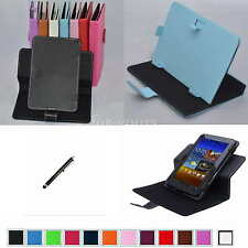 "Colorful Rotary Magic PU Leather Case+Stylus For 7"" HP Slate 7 1800 Tablet PC"