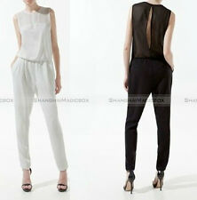 Women Sexy Hollow Back Chiffon Sleeveless Jumpsuit Waist Pant Trouser WJPS003