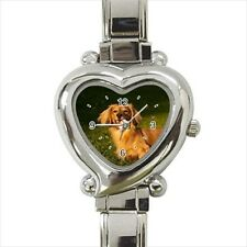 Long Haired Dachshund Dog - Italian Charm Watch (2 Watch Styles)-RR4625