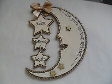 Handmade, wooden LOVE YOU TO THE MOON AND BACK  plaque