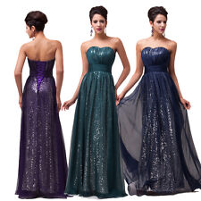 Grace karin Chiffon Sequins Evening Formal Party Ball Gown Prom Bridesmaid Dress