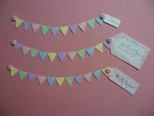 MINIATURE SCALLOPED BUNTING DIE CUTS FOR BIRTHDAYS INVITATIONS WEDDINGS CRAFTS