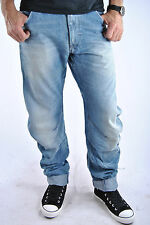G-Star 3301 Arc Loose Tapered Jeans Raw Denim Custom Wash Vintage GStar Rollbaum