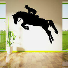 HORSE JUMPING SHOW  HORSE RIDER JOCKEY  Vinyl wall art sticker decal