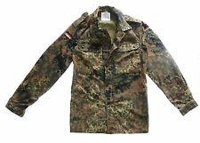 MENS GERMAN MILITARY ISSUED SHIRT Gents heavy duty cotton army flecktarn camo