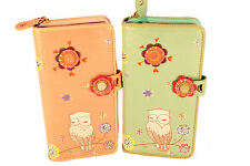 Retro Snowy Owl Large Ziparound Purse By Vendula London, Stunning Design, New