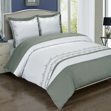 Amalia Gray Embroidered cotton 8PC Bed in a Bag