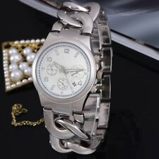 Fashion New Style Stainless Steel WOMENS/MENS Curb Wrist Watch New Arrival