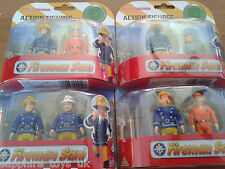 FIREMAN SAM TWIN PACK ACTION FIGURES - Norman Price / Fireman Sam in Mask