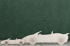 Sports car wooden Shapes, engraved, craft Blank, card and plaque making,