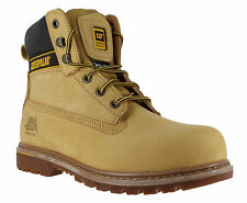 Caterpillar Holton SB Honey Steel Toe Cap Safety Working Boots Sizes 7 to 12