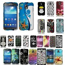 FOR SAMSUNG GALAXY S4 ACTIVE I537 Star Fish Leopard HARD CASE Rubberized Cover