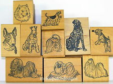 Stamp Pad Co. DOG Rubber Stamp WOLFHOUND TERRIER MALTESE PEKINGESE APSO