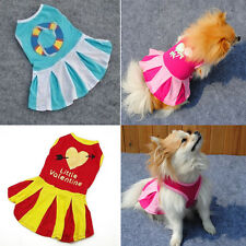 Various Pet Dog Mini Dress Chic Puppy Apparel Small Dog Cat Stripe Skirt Clothes