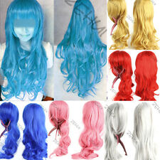 32in. Heat Resistant Long Big Wavy Curly Cosplay Full Wig 13Colors Free Shipping