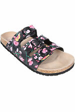 Yoursclothing Plus Size Womens Floral Three Strap Sandal In A Eee Fit
