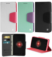 NEW INFOLIO WALLET CREDIT CARD ID CASH CASE STAND FOR MOTOROLA DROID MAXX ULTRA