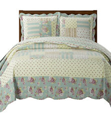 Elegant and Contemporary Annabel Coverlet, Reversible 3PC Quilt & Shams Set