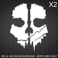 Call of Duty Ghosts Decal COD Skull [40x30mm] [Set of 4]