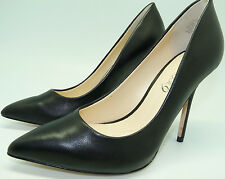 Boutique 9 Sally Black Smooth Leather Pointed Toe High Heeled Pumps