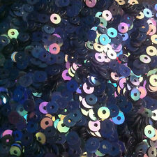 Sequins 4mm Black Peacock Petrol AB Iris Flat Round Choose Pack Size
