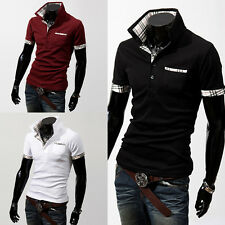 Hommes se cols Casual Ecosse Polo à manches courtes T Casual T-shirts