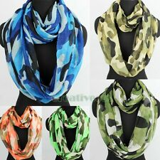 Women's Fashion Camouflage Print Soft Infinity Loop Cowl Casual Scarf Lady Shawl