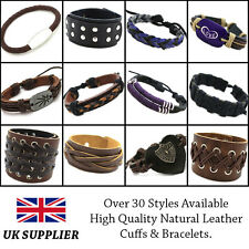 High Quality Natural Leather Friendship Bracelets (5 Items Free Postage)