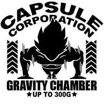 DBZ Gravity Chamber Capsule Corp Dragon Ball Z Motivational Work Out Tee T Shirt